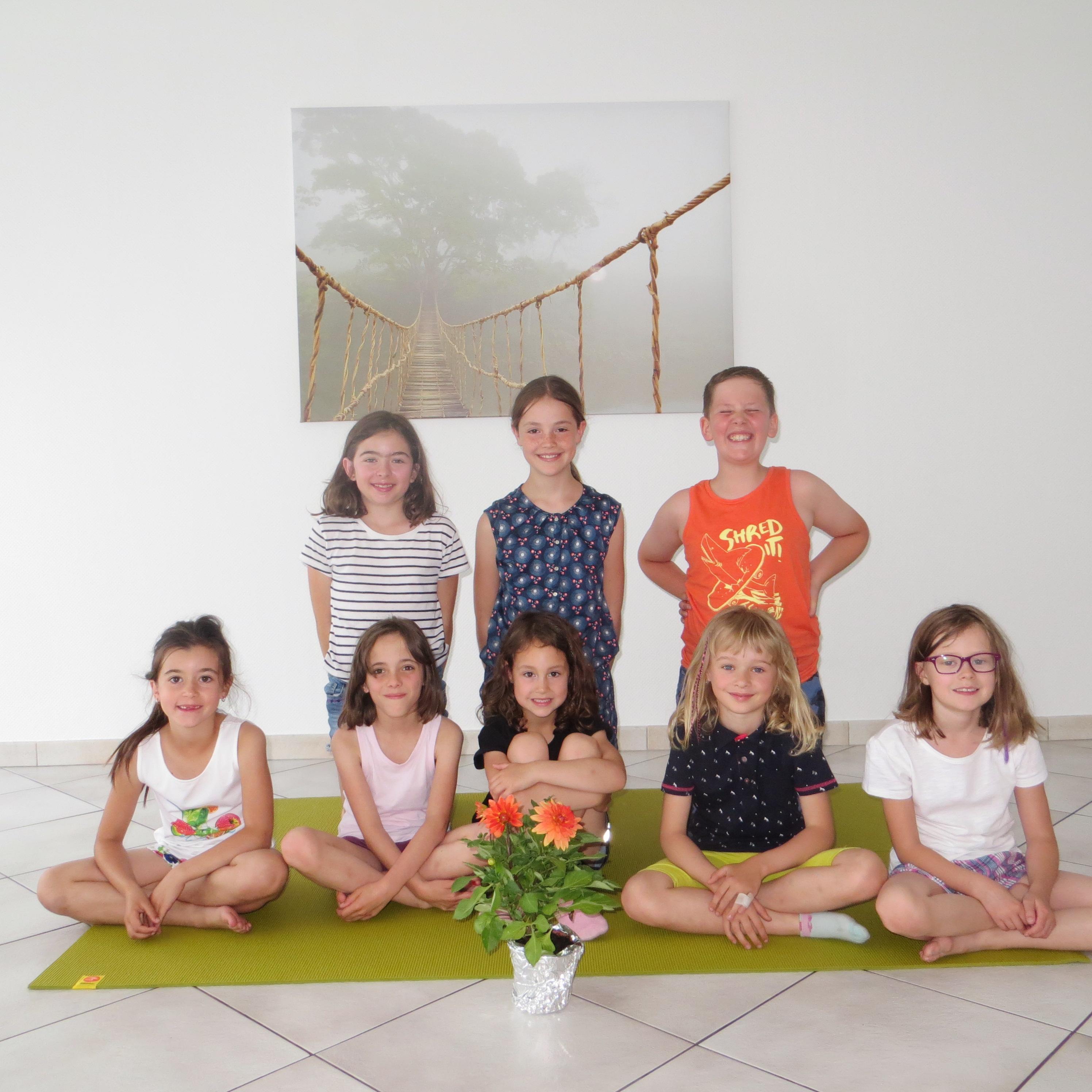 Groupe yoga enfant Cluses printemps 2018